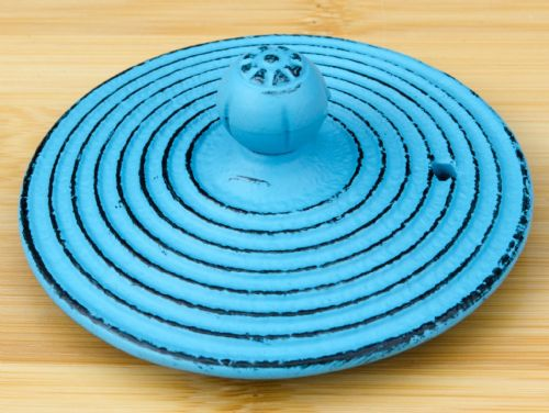 Blue Dragonfly -  Lid for Cast Iron tea pot – 8.2cm diameter